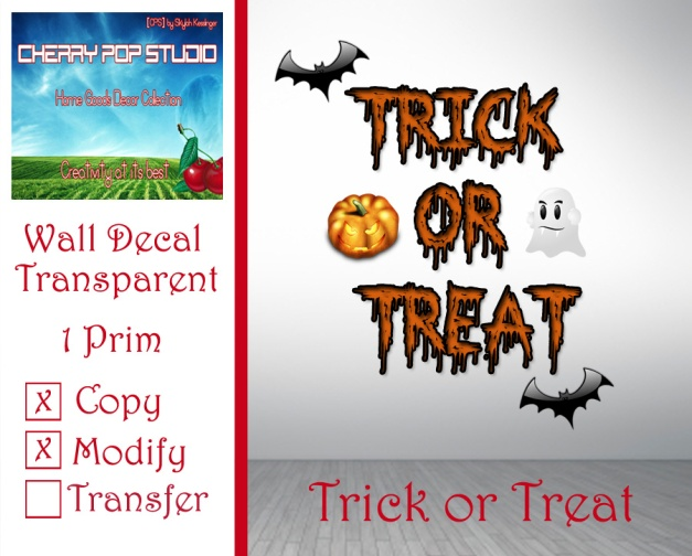 CPS Trick or Treat Decal AD