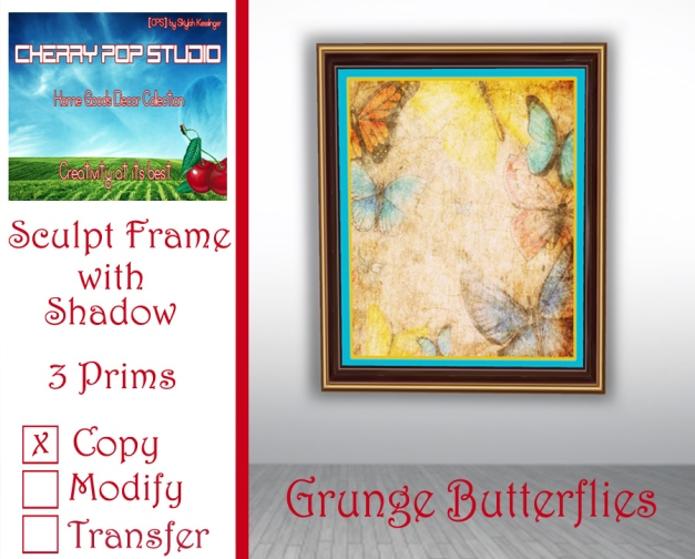 CPS Grunge Butterflies Print AD