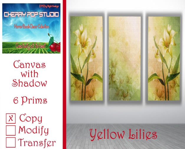 CPS Yellow Lilies Canvas AD