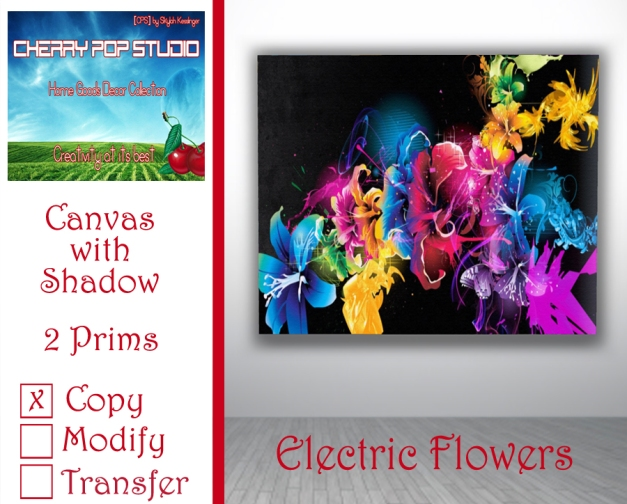 CPS Electric Flowers Canvas AD