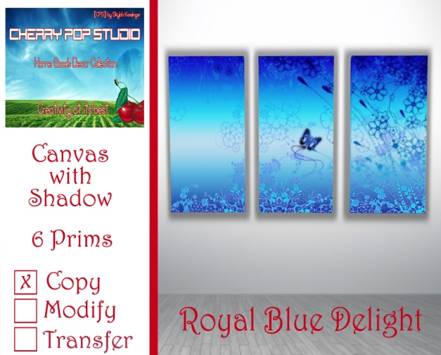 CPS Royal Blue Delight Canvas Prints AD