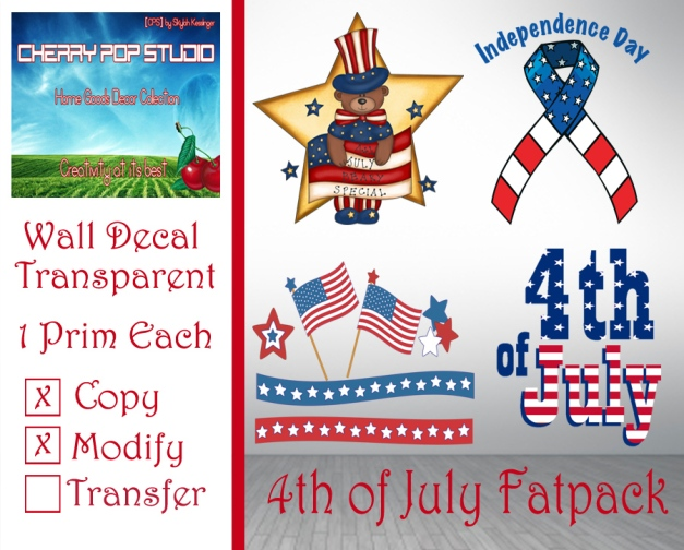 CPS 4th of July Decals Fatpack AD