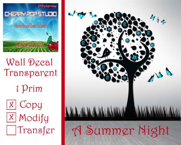 CPS A Summer Night Decal AD