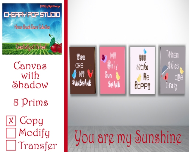 CPS You are my Sunshine AD
