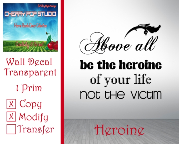 CPS Heroine Decal AD