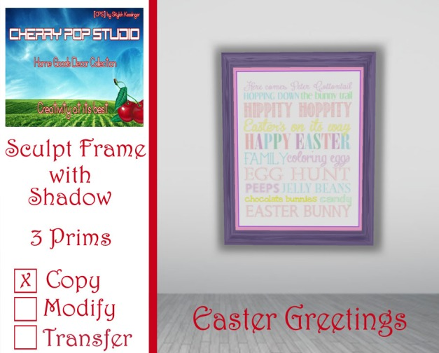 CPS Easter Greetings Print AD