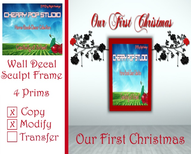 CPS Our First Christmas Decal + Sculpt Frame AD
