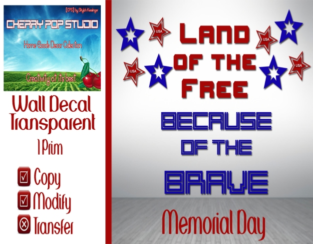 [CPS] Memorial Day Decal AD